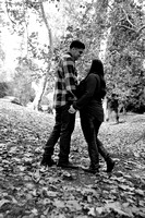 engagement pictures in Los Angeles observatory in Griffith park,