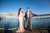 Alejandro and Monique engagement photos at Long beach Harbor Lighthouse, 323-633-8283, www.gustavovillarreal.com