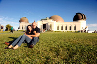 Rosa and Fernando Engagement pictures at Los Angeles Observatory, (323) 633-8283 www.gustavovillarrealphotography.com